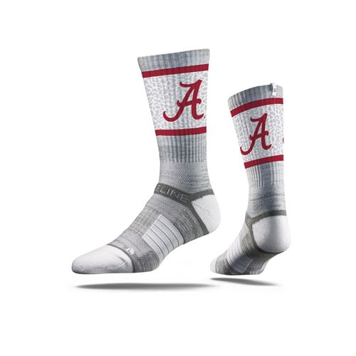 Picture of Alabama Sock Big Al Grey Crew Premium Reg