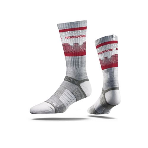 Picture of Arkansas Sock Grey Sooie Crew Premium Reg