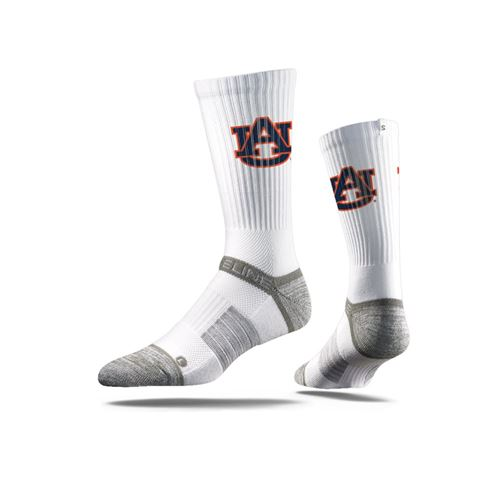 Picture of Auburn Sock Aubie White Crew Premium Reg