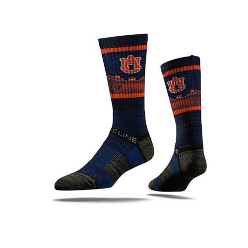 Picture of Auburn Sock Tiger Blue Crew Premium Reg