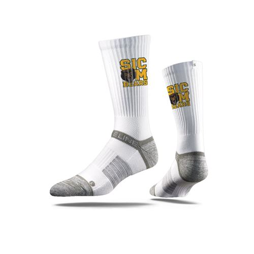Picture of Baylor Sock Waco White Crew Premium Reg