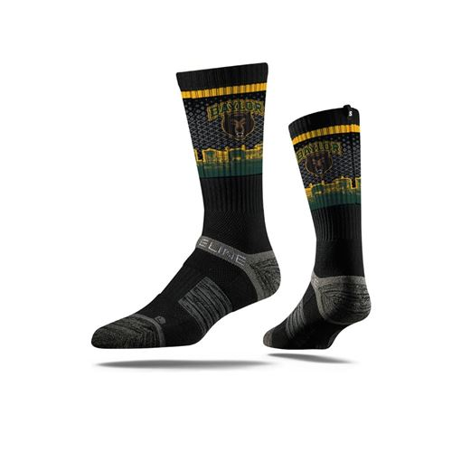 Picture of Baylor Sock Bear Black Crew Premium Reg