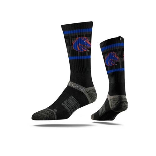 Picture of Boise State Sock Bronco Black Crew Premium Reg