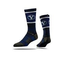 Picture of BYU Sock BYU Blue Crew Premium Sm