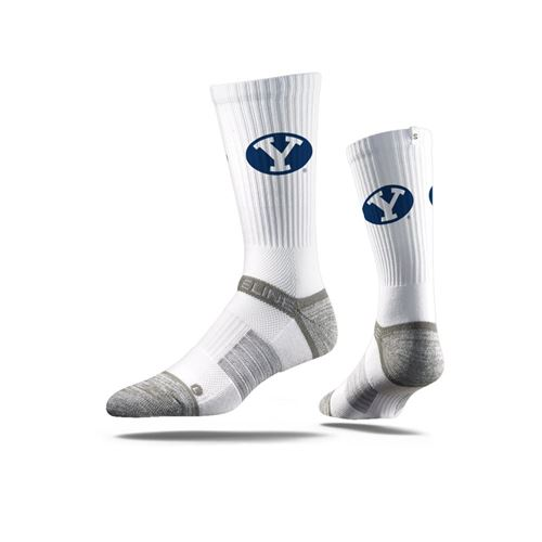 Picture of BYU Sock Provo White Crew Premium Reg
