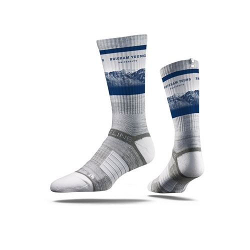 Picture of BYU Sock Cougar Grey Crew Premium Reg