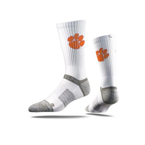 Picture of Clemson Sock Tiger White Crew Premium Reg