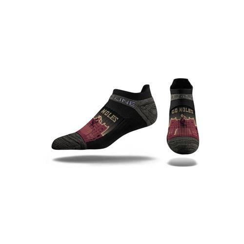 Picture of Florida State Sock Seminole Black No Show Premium Sm