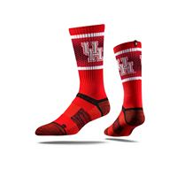 Picture of Houston Sock Houston Scarlet Crew Premium Reg