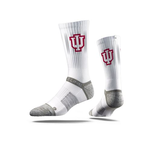 Picture of Indiana Sock IU White Crew Premium Reg