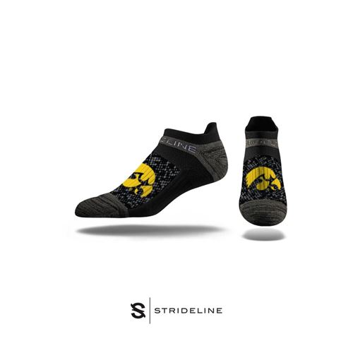 Picture of Iowa Sock Hawkeye Black No Show Premium Reg
