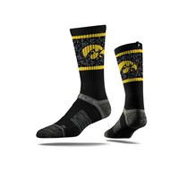 Picture of Iowa Sock Hawkeye Black Crew Premium Reg