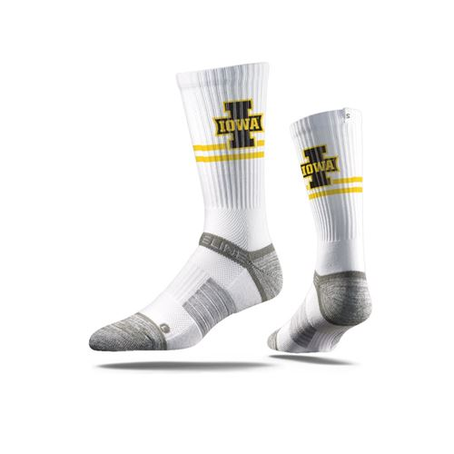 Picture of Iowa Sock Herky White Crew Premium Reg