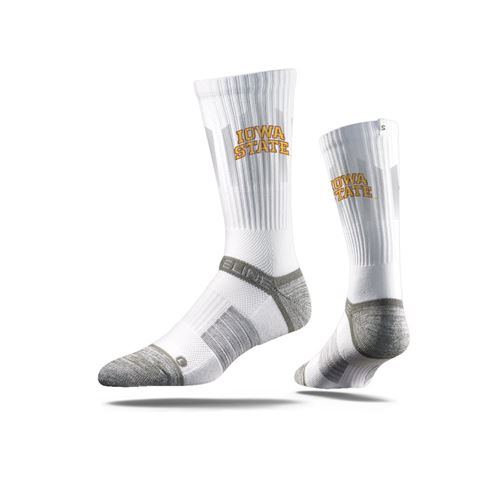 Picture of Iowa State Sock Ames White Crew Premium Reg