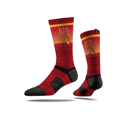 Picture of Iowa State Sock Cyclone Gold Crew Premium Reg