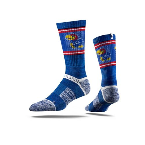 Picture of Kansas Sock KU Blue Crew Premium Reg