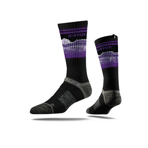 Picture of Kansas State Sock Manhattan Black Crew Premium Reg