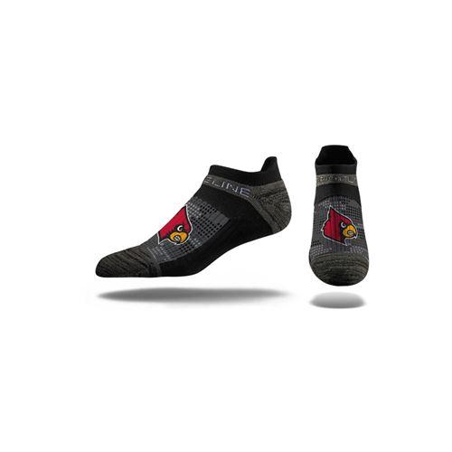 Picture of Louisville Sock Louisville Black No Show Premium Reg