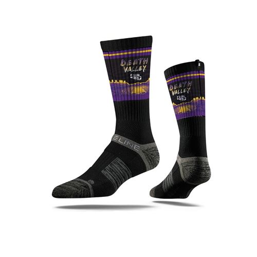 Picture of LSU Sock Death Valley Shade Crew Premium Reg