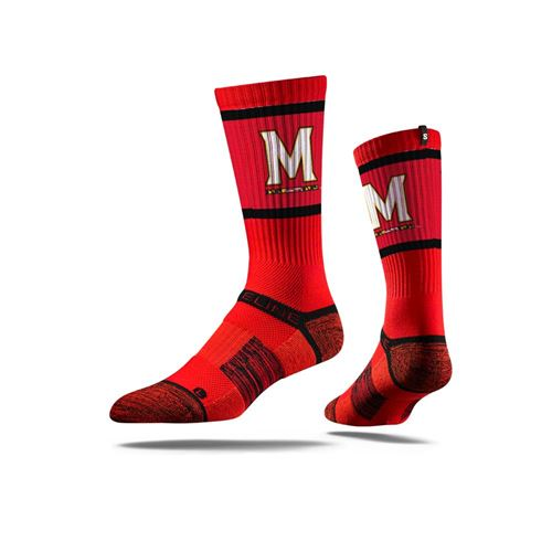 Picture of Maryland Sock Terrapin Red Crew Premium Reg