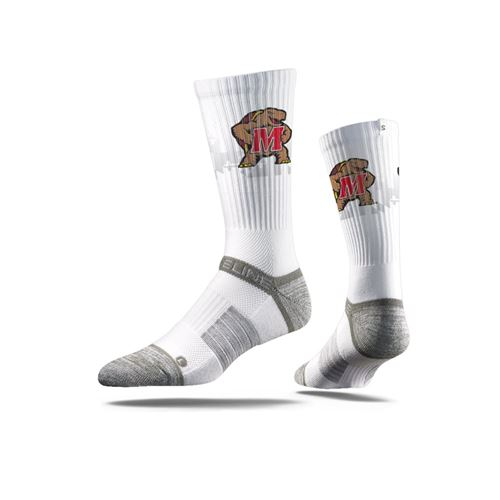 Picture of Maryland Sock White Testudo Crew Premium Reg