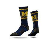 Picture of Michigan Sock Ann Arbor Blue Crew Premium Reg