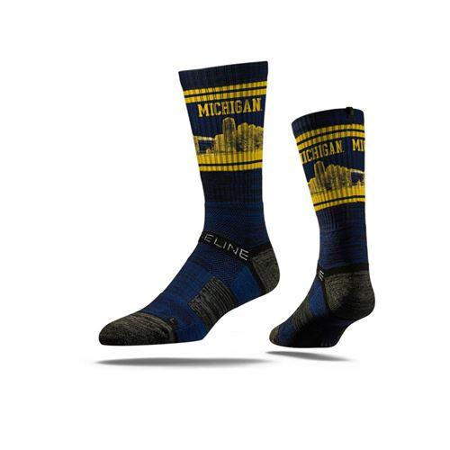 Picture of Michigan Sock Blue Pride Crew Premium Reg