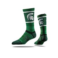 Picture of Michigan State Sock Sparty Green Crew Premium Reg