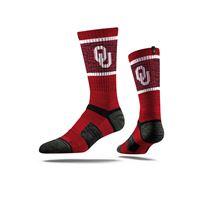 Picture of Oklahoma Sock Oklahoma Crimson Crew Premium Reg