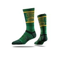 Picture of NDSU Sock Bison Green Crew Premium Reg
