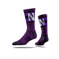 Picture of Northwestern Sock Evanston Purple Crew Premium Reg
