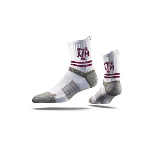 Picture of Texas A & M Sock Gig 'Em White Mid Premium Reg