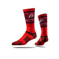 Picture of Utah Sock University Red Crew Premium Reg