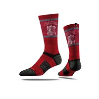 Picture of WSU Sock Crimson Campus View Crew Premium Reg
