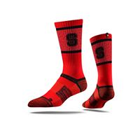 Picture of NC State Sock Wolfpack Red Crew Premium Reg