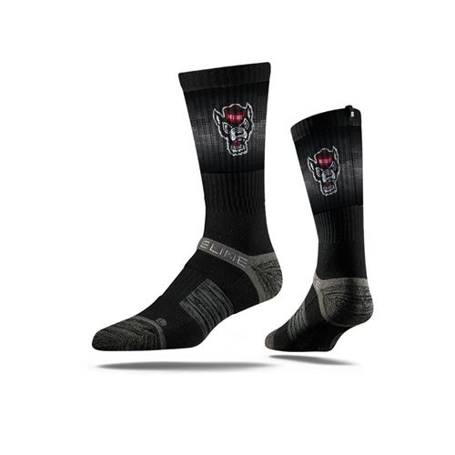 Picture of NC State Sock Black Pack Crew Premium Reg
