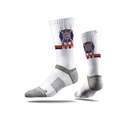 Picture of Chicago Fire Sock White Fire Crew Premium Reg