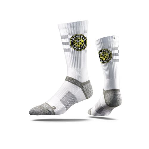 Picture of Columbus Crew SC Sock White Flag Crew Premium Reg