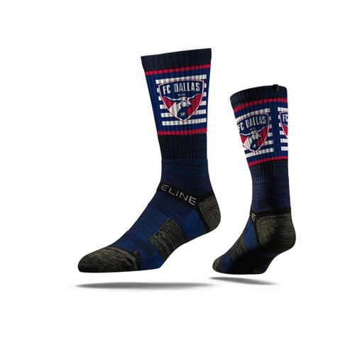 Picture of FC Dallas Sock Navy Striped Crew Premium Reg