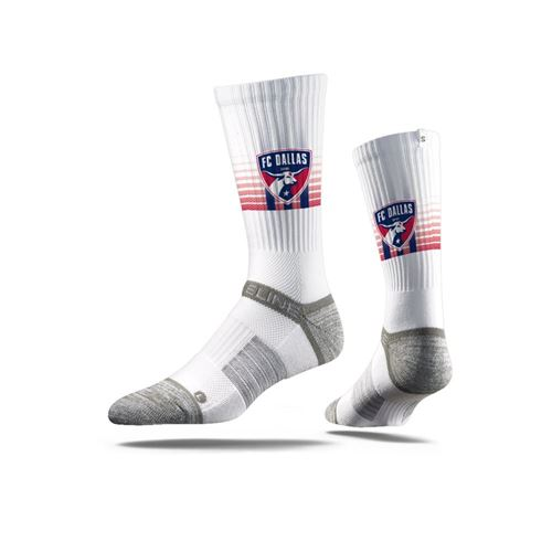 Picture of FC Dallas Sock White Striped Crew Premium Reg