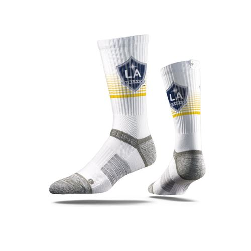Picture of LA Galaxy Sock Sport White Crew Premium Reg