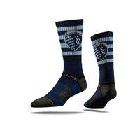 Picture of Sporting KC Sock Navy Block Crew Premium Reg