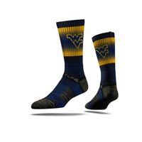 Picture of West Virginia Sock Blue Fade Crew Premium Sm
