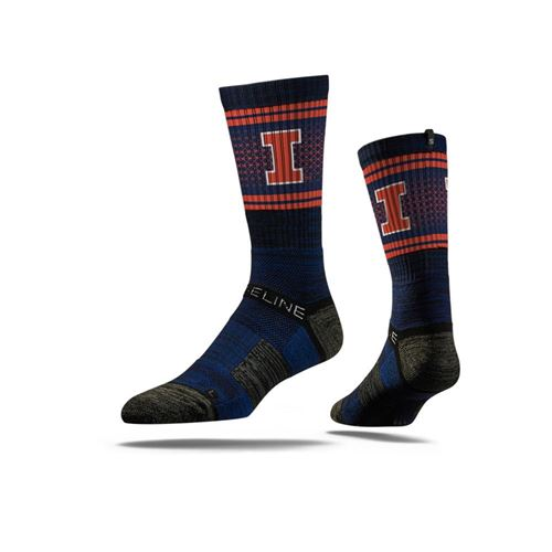 Picture of Illinois Sock Illini Blue Crew Premium Reg