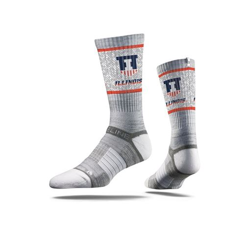 Picture of Illinois Sock Illini Grey Crew Premium Reg