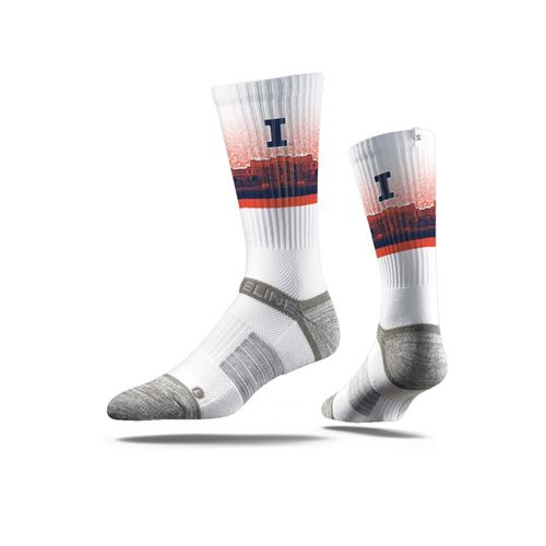 Picture of Illinois Sock Illini White Crew Premium Reg