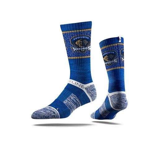 Picture of Charlotte Hounds Sock Blue Hounds Crew Premium Reg
