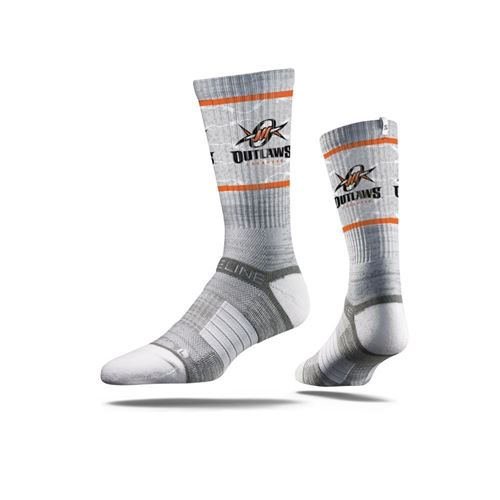 Picture of Denver Outlaws Sock Outlaws Grey Crew Premium Reg