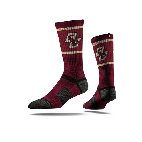Picture of Boston College Sock Maroon and Gold Crew Premium Reg