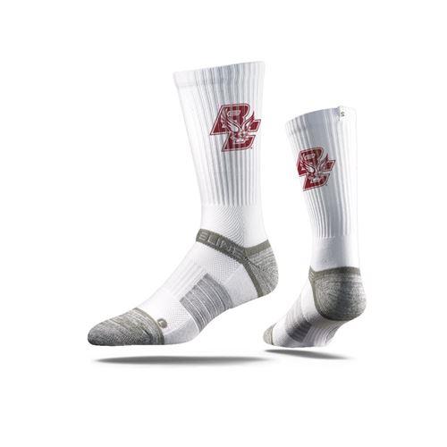 Picture of Boston College Sock Eagle White Crew Premium Reg